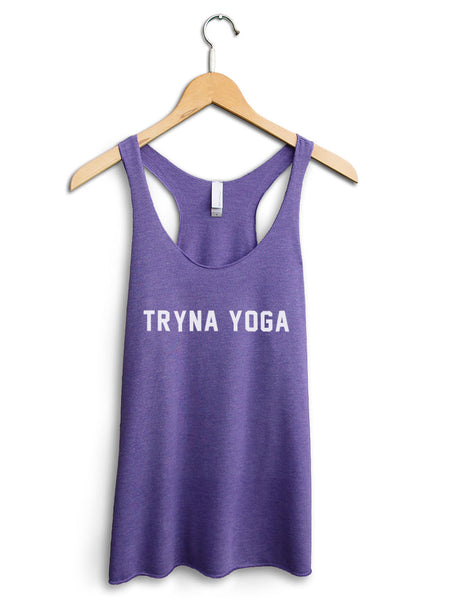 Tryna Yoga Women's Purple Tank Top