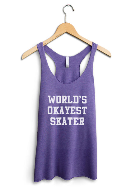 Worlds Okayest Skater Women's Purple Tank Top