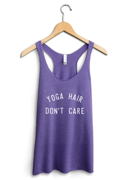 Yoga Hair Dont Care Women's Purple Tank Top