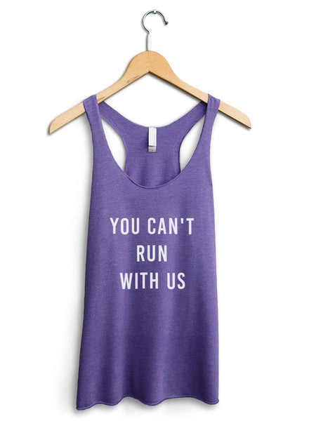 You Cant Run With Us Women's Purple Tank Top
