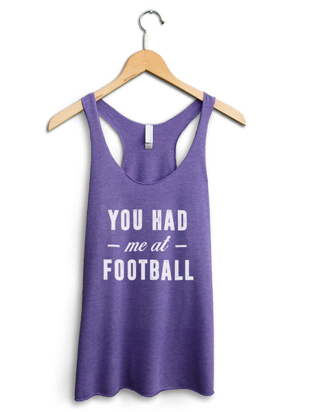 You Had Me At Football Women's Purple Tank Top