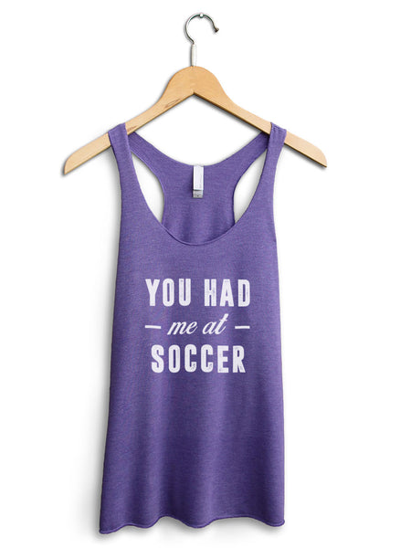 You Had Me At Soccer Women's Purple Tank Top