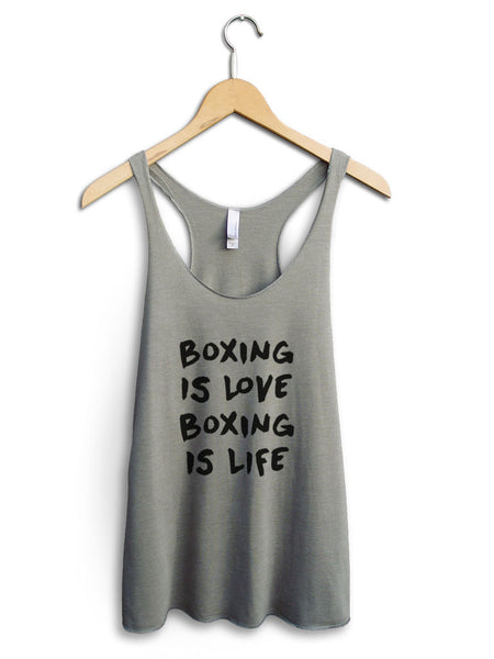 Boxing Is Love Boxing Is Life Women's Venetian Gray Tank Top