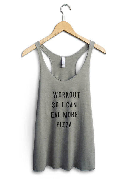 Eat More Pizza Women's Venetian Gray Tank Top