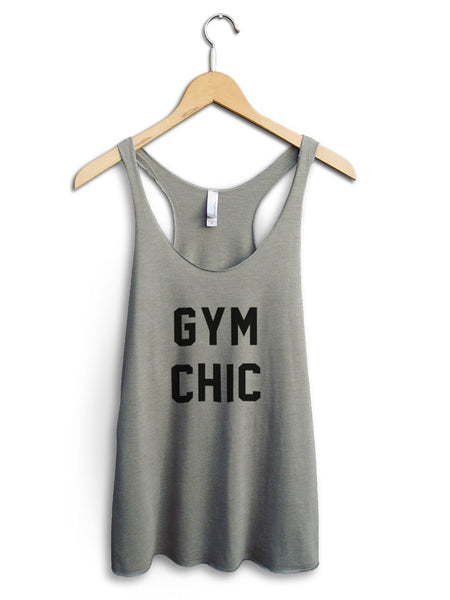 Gym Chic Women's Venetian Gray Tank Top