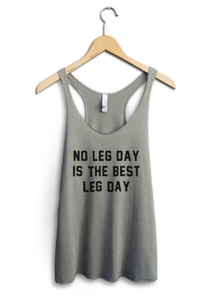 No Leg Day Women's Venetian Gray Tank Top