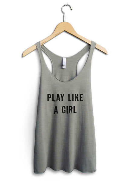 Play Like A Girl Women's Venetian Gray Tank Top