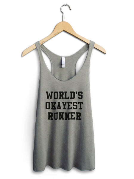 Worlds Okayest Runner Women's Venetian Gray Tank Top
