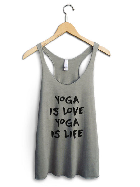 Yoga Is Love Yoga Is Life Women's Venetian Gray Tank Top