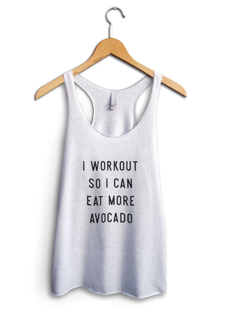 Eat More Avocado Women's White Tank Top