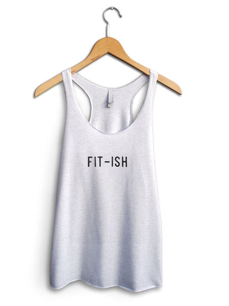 Fit Ish Women's White Tank Top