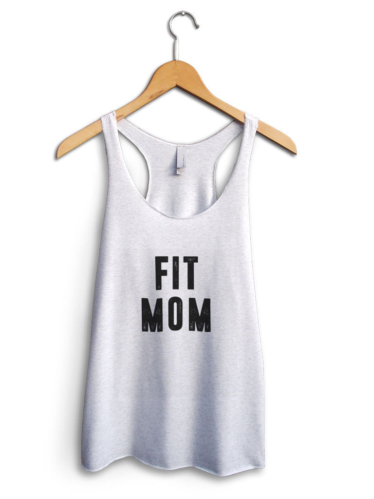 Fit Mom Women's White Tank Top