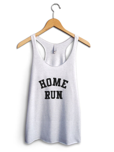 Home Run Women's White Tank Top