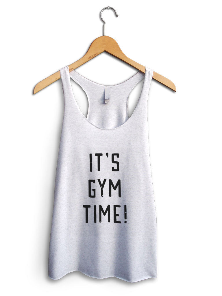 Its Gym Time Women's White Tank Top