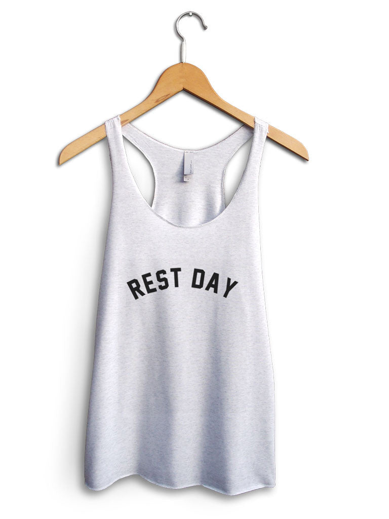 Rest Day Women's White Tank Top