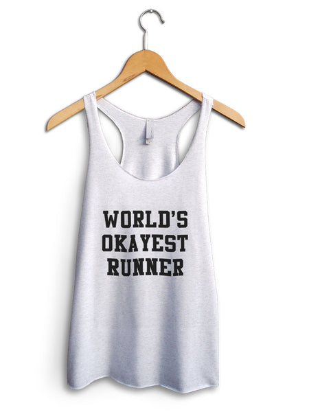 Worlds Okayest Runner Women's White Tank Top
