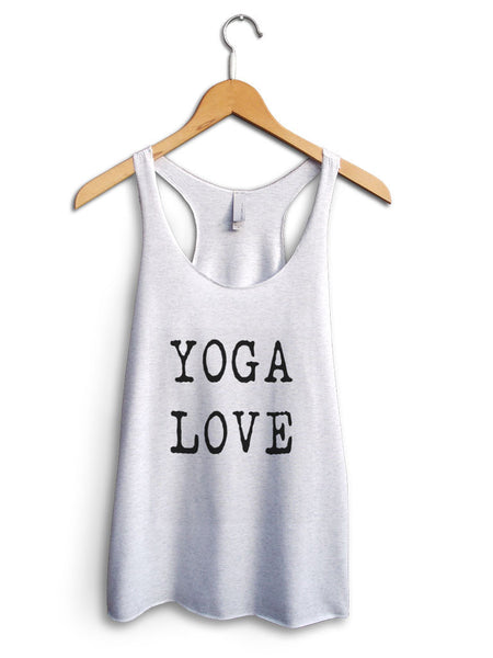 Yoga Love Women's White Tank Top