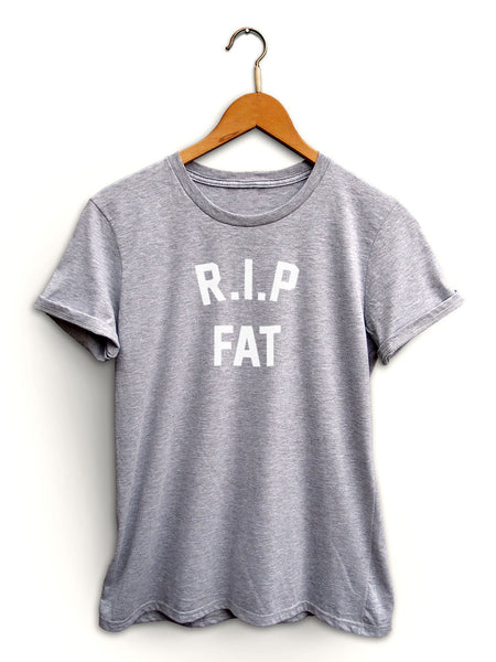 Rip Fat Women's Light Heather Gray Shirt