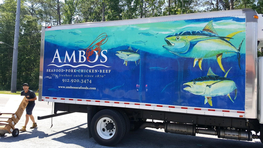 Artwork for Ambos Seafood Delivery Truck