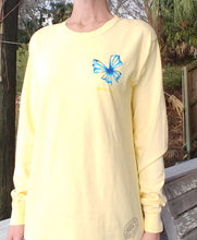 Butterfly Long Sleeve Crewneck T-Shirt