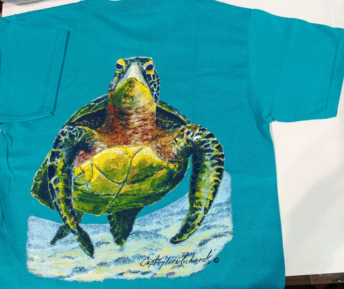 Turtle Kid's Short Sleeve Crewneck T-Shirt