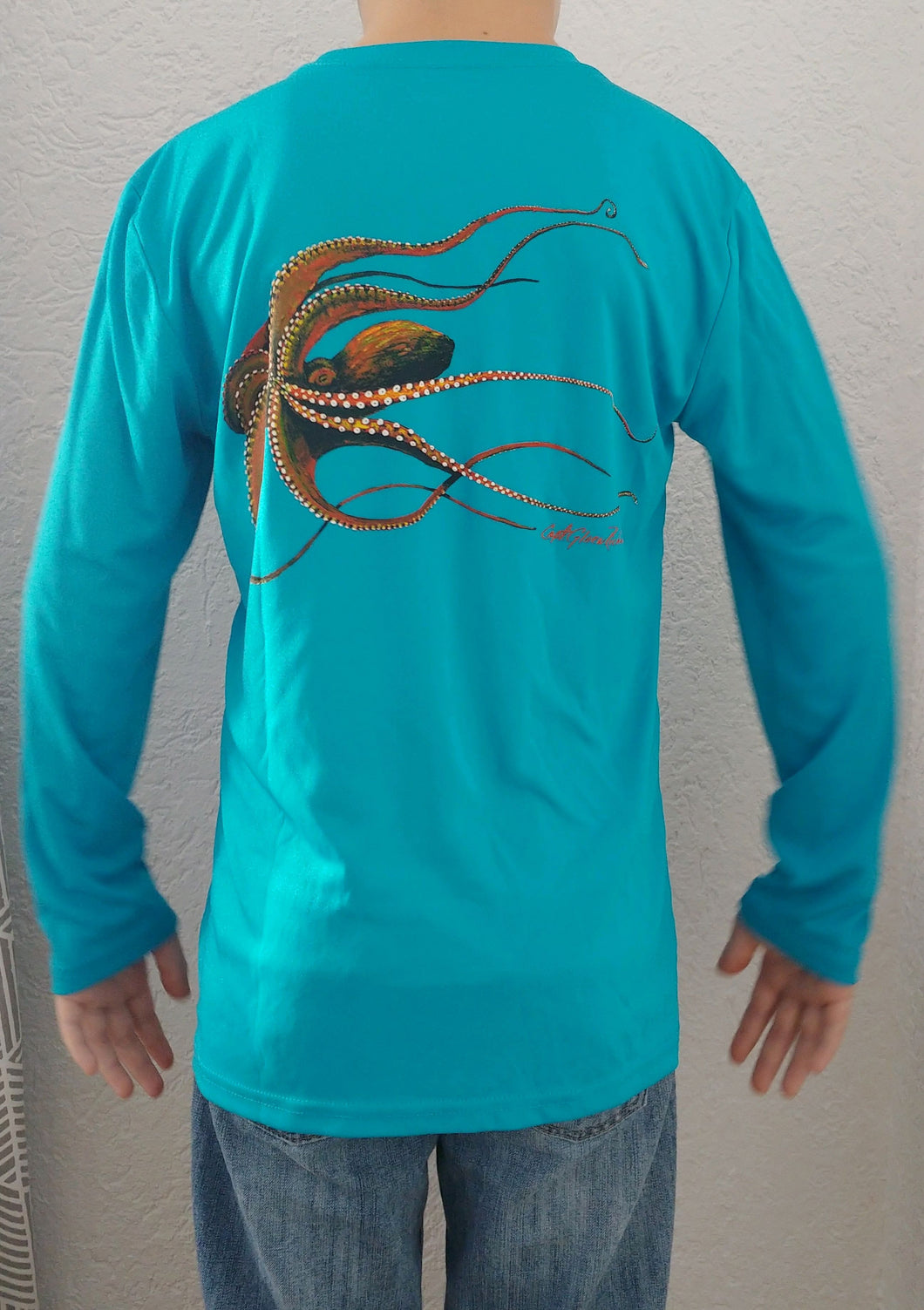 Octopus Kid's Long Sleeve Quick Dry Crewneck T-Shirt