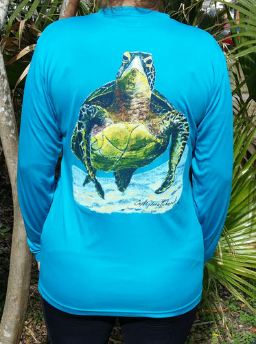 Turtle Long Sleeve Quick Dry Crewneck T-Shirt