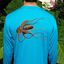 Octopus Long Sleeve Quick Dry Crewneck T-Shirt