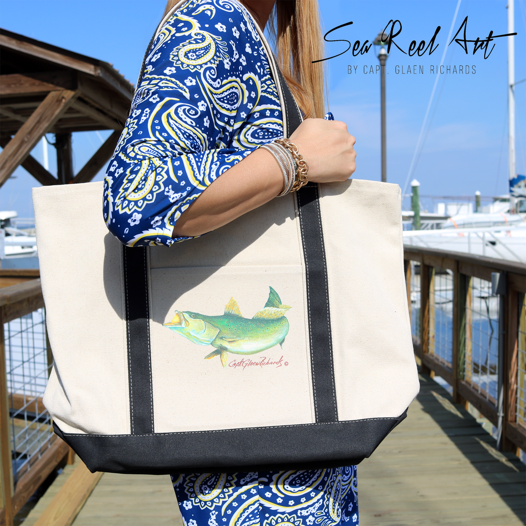Sea Trout Canvas Tote Bag