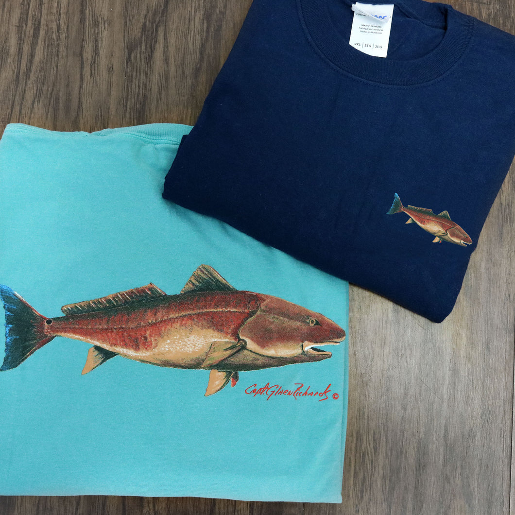 Redfish Bass Long Sleeve Crewneck T-Shirt
