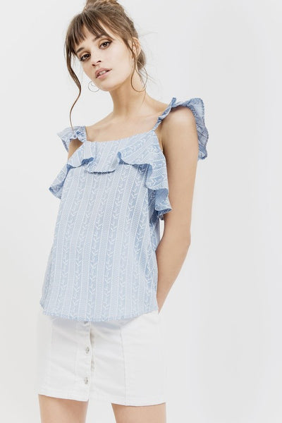 Free As A Bird Ruffle Top