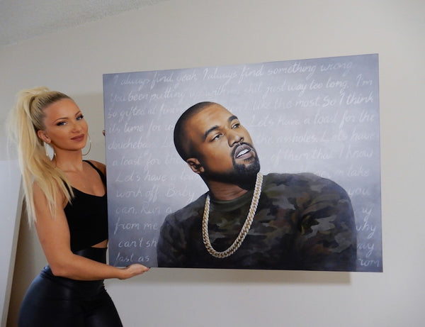 frida davidsson art kanye west painting