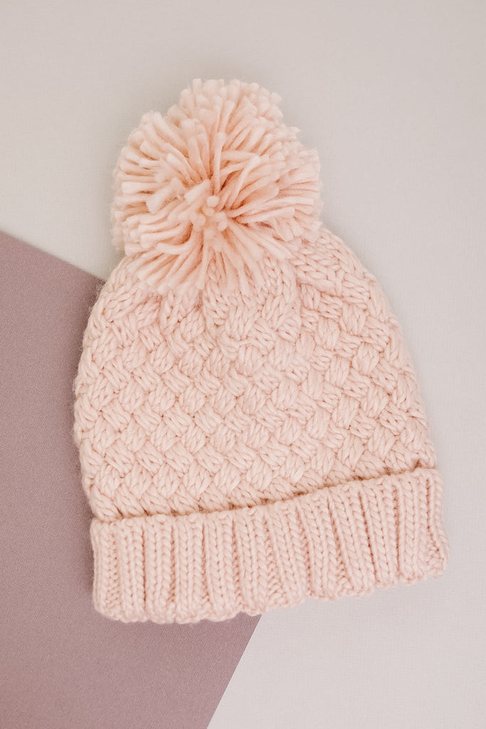 Bella Knit Beanie in Rose - Everest & Co.