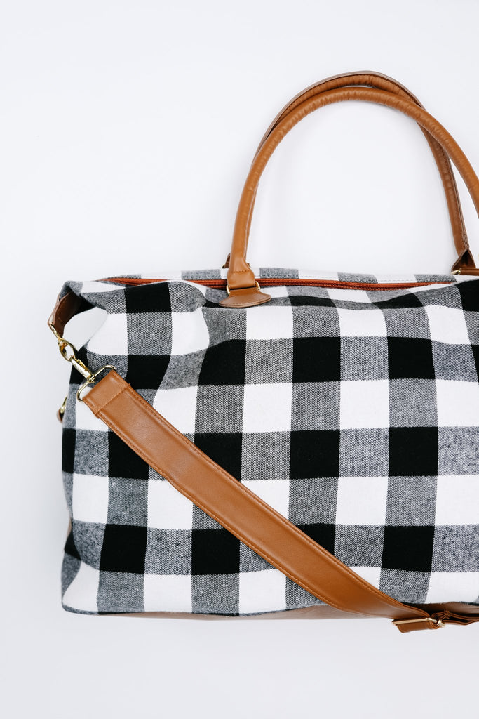 Buffalo Plaid Holiday Weekender Bag - Everest & Co.