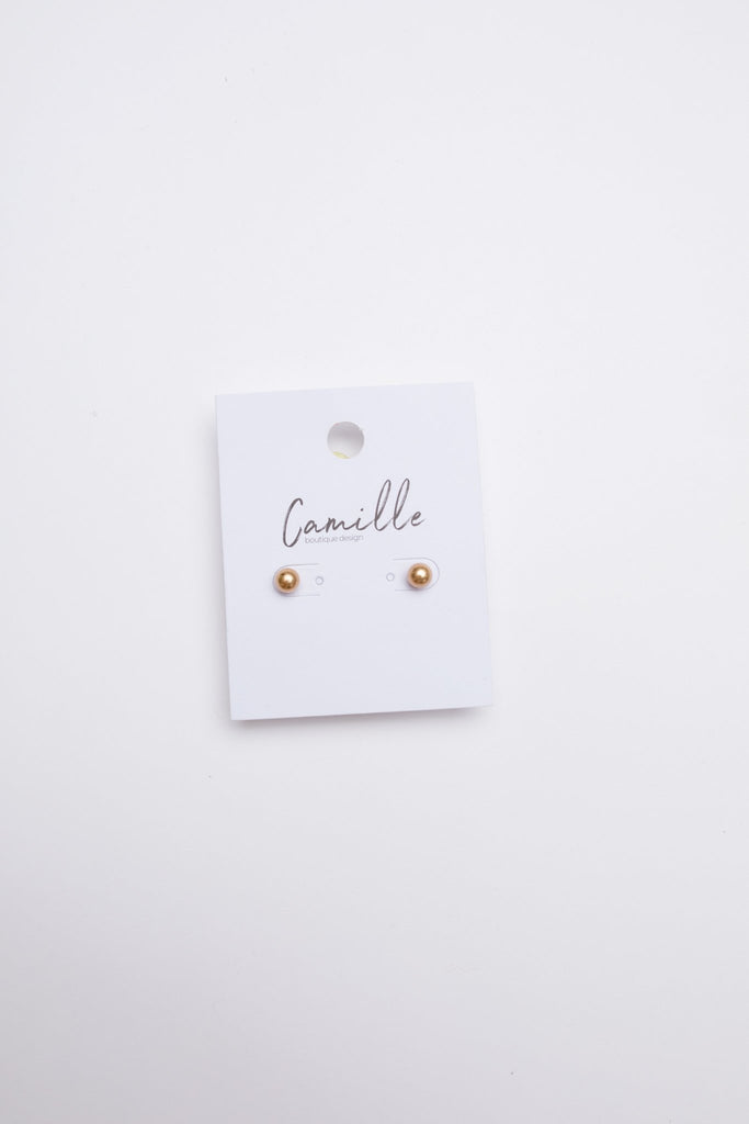 Subtle Holiday Feels Small Stud Earrings in Gold - Everest & Co.