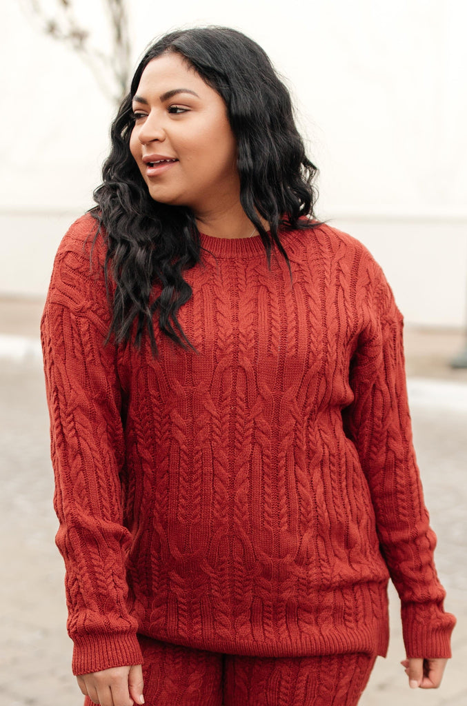 Annie Knit Top in Rust - Everest & Co.
