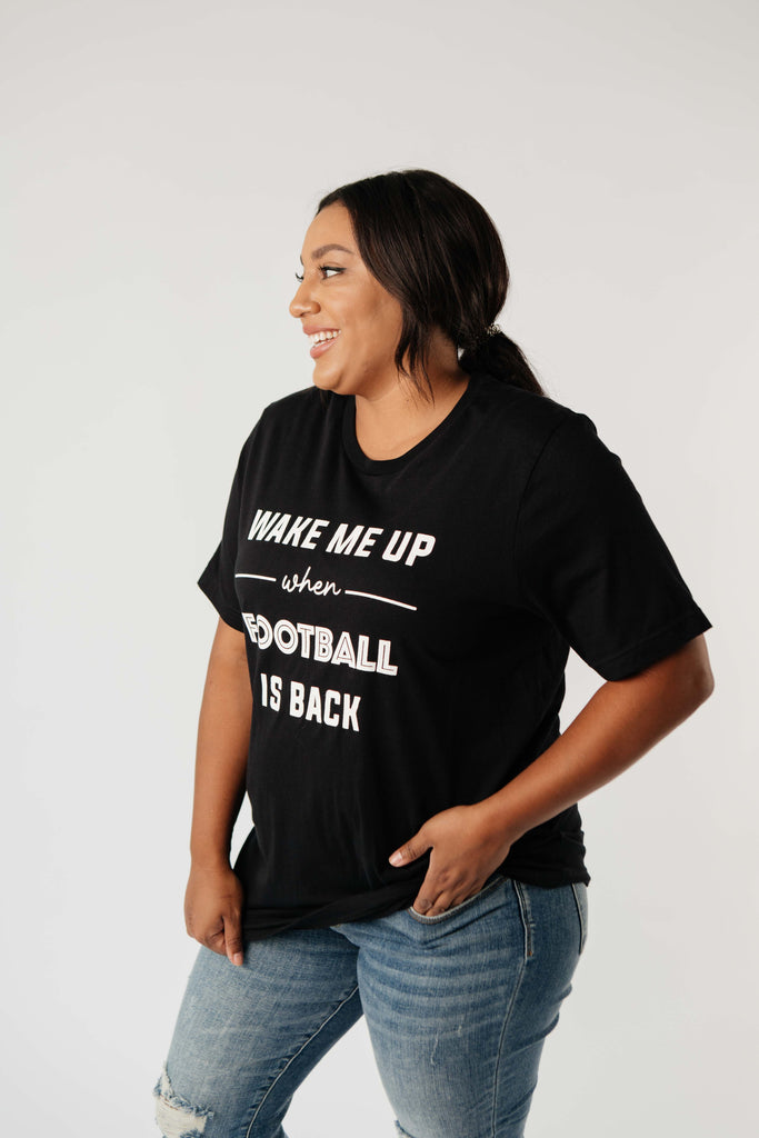 Wake Me Up When Football Is Back Graphic Tee - Everest & Co.