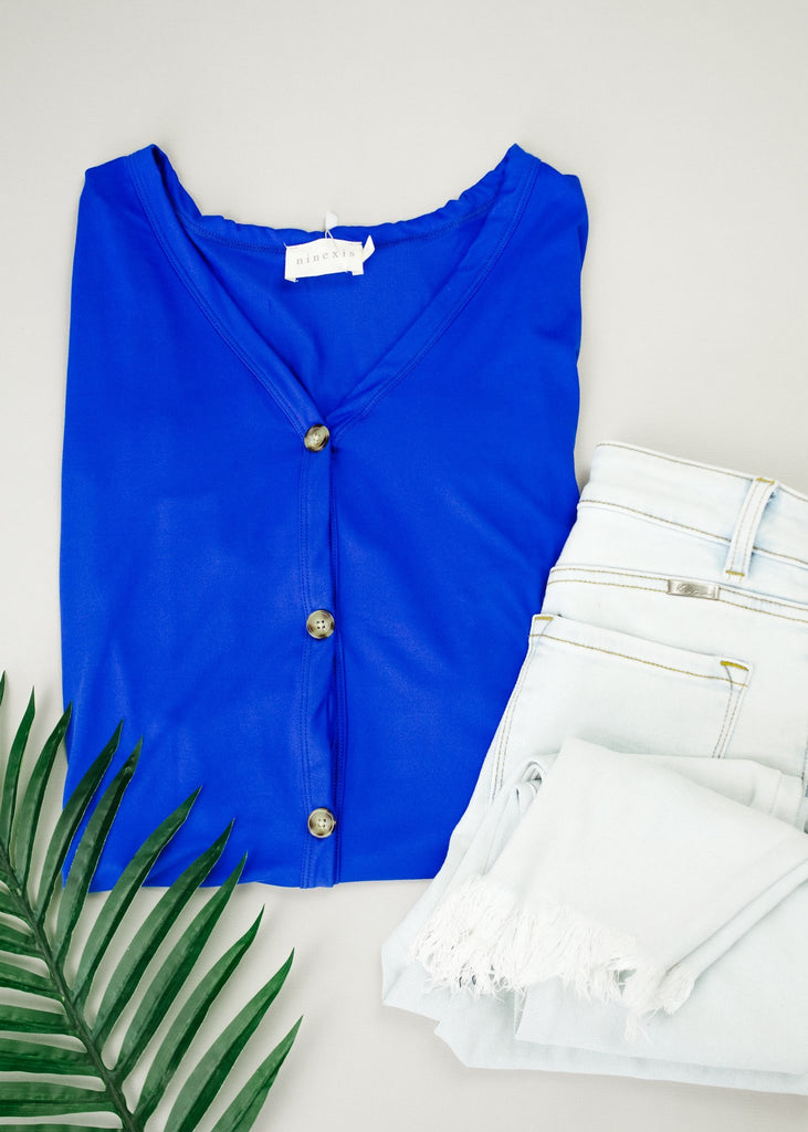 Button-down Comfort In Blue - Everest & Co.