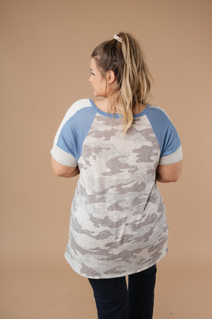 Camouflage Blues Top - Everest & Co.