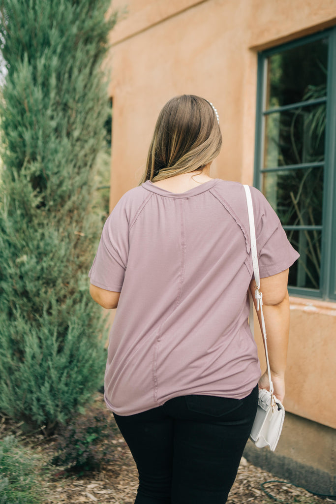 Cozy Cool Tee in Lavender - Everest & Co.