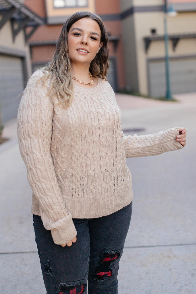 Cozy Cropped Sweater in Oatmeal - Everest & Co.