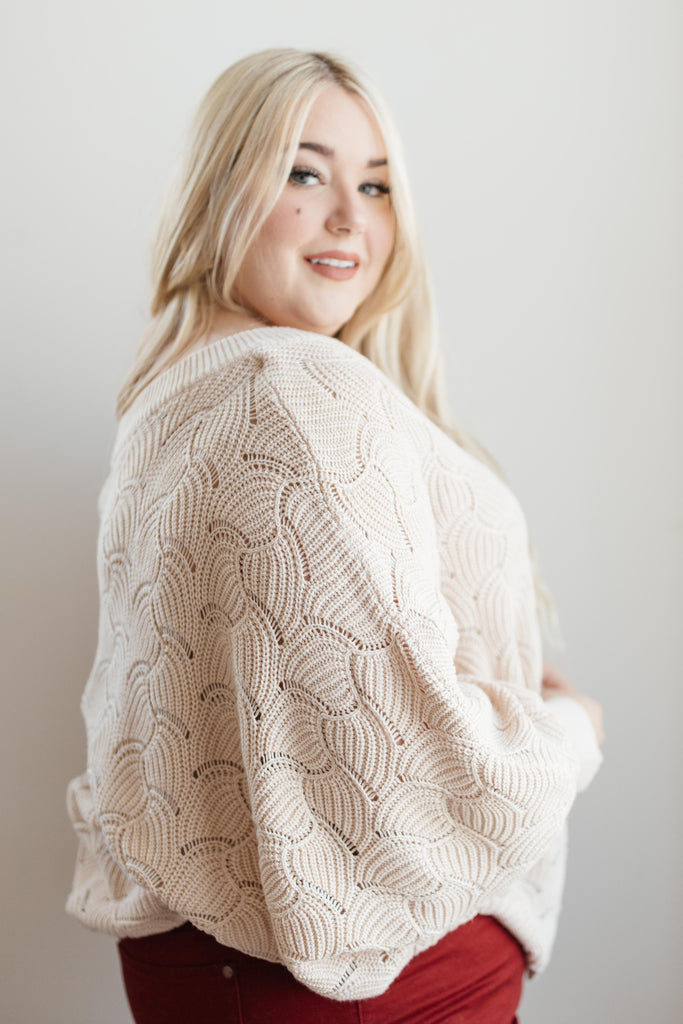 Designed For Details Top in Taupe - Everest & Co.