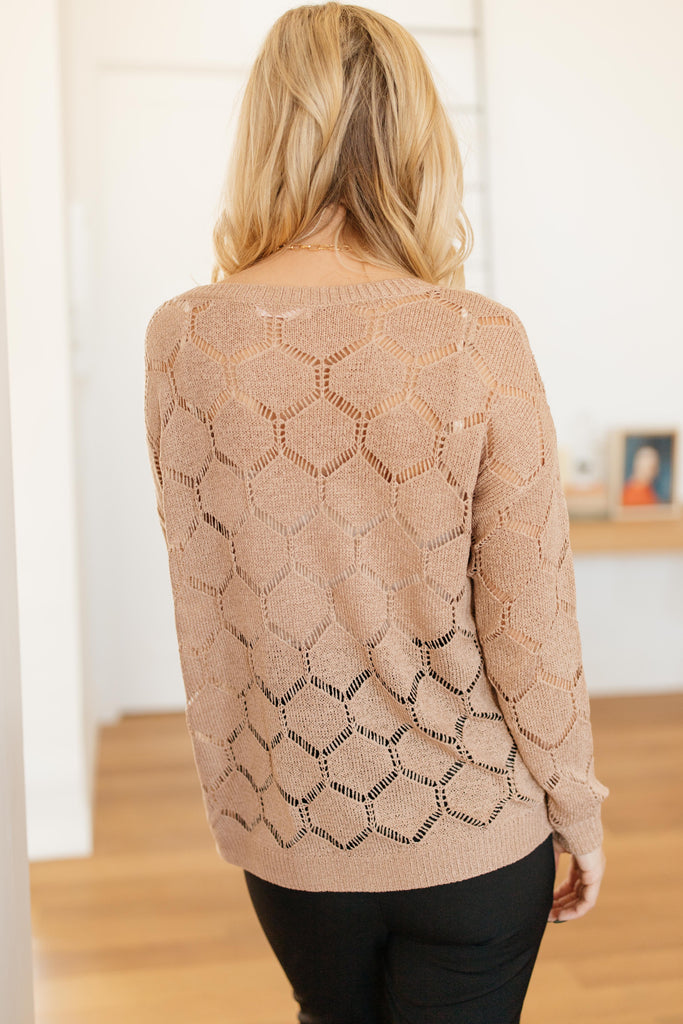 Eden Sheer Top in Mocha - Everest & Co.