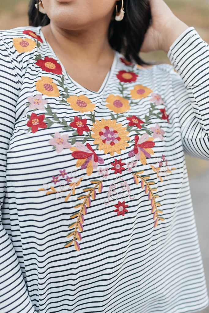 Embroidered Elegance Top - Everest & Co.