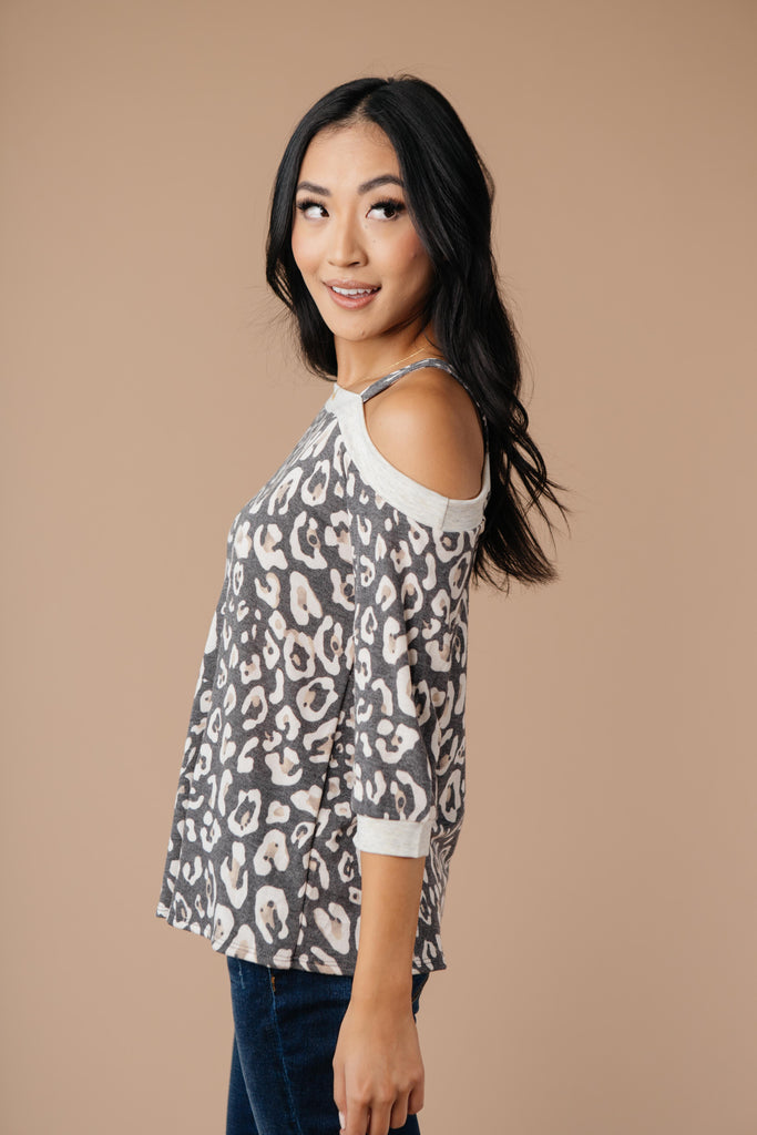 Grin & Bare It Animal Print Top - Everest & Co.