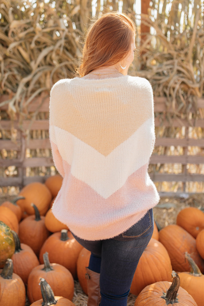 Melody Muted Chevron Sweater - Everest & Co.