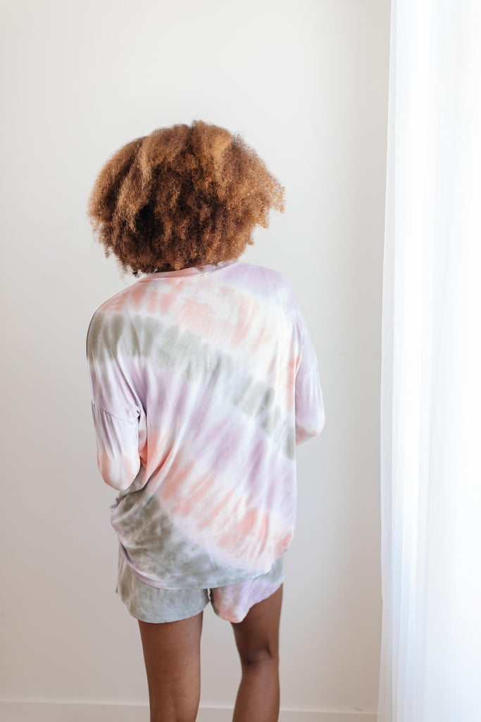 New Fangled Angled Tie Dye Top - Everest & Co.