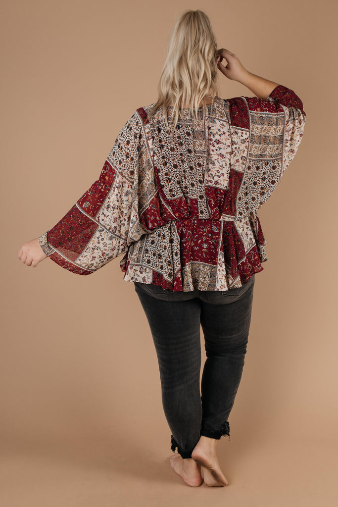 Patch Things Up Date Night Blouse - Everest & Co.