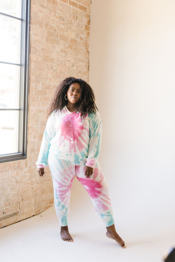 Pink Sunburst Tie Dye Hoodie - Everest & Co.