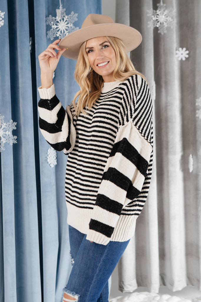 Simone Striped Sweater - Everest & Co.